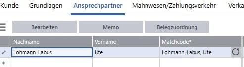 Register Ansprechpartner